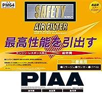 PIAA ( ピア ) エアーフィルター SAFETY 【三菱車用】 PM64