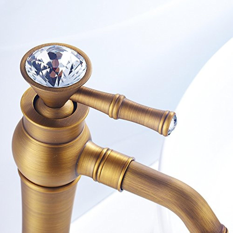 Hlluya Professional Sink Mixer Tap Kitchen Faucet Kitchen faucet antique basin kitchen sink, antique ceramic crystal