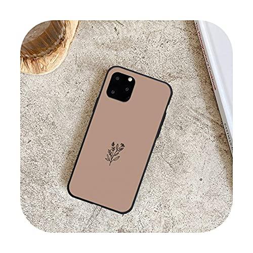 Lujo Romántico Simple Flor Teléfono Casos para iPhone 8 7 6 6S Plus X 5S SE 2020 XR 11 12 Pro mini pro XS MAX-a7-Para 12 Pro Max