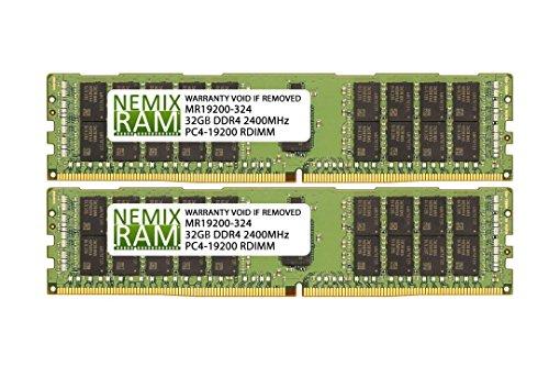 64GB 2x32GB DDR4-2400 RDIMM 2Rx4 Memory for KNPA-U16 EPYC 7000 Series by Nemix Ram