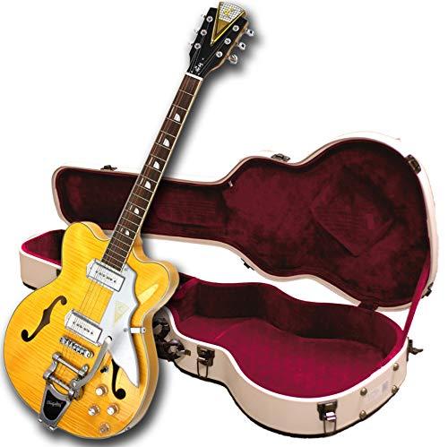 Kay Neuauflage k775vb Jazz II E-Gitarre mit BIGSBY tremolo- natürliches blond
