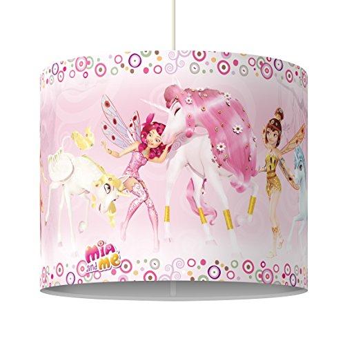 Bilderwelten Pendelleuchte Mia and me Mia Freunde Lampe Flur Arbeitszimmer Rosa 34 x 40 cm