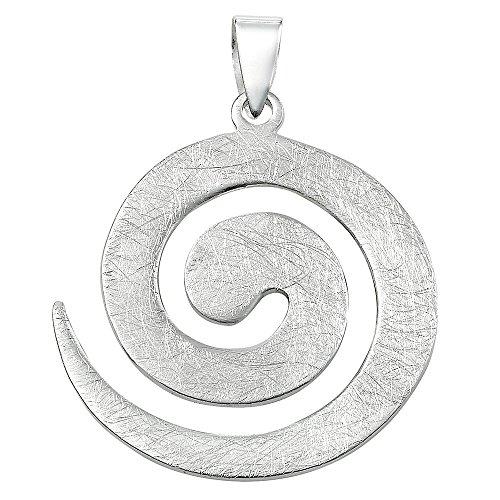 Vinani 2ASP-EZ - Colgante de plata de ley 925 con diseño de espiral, tamaño grande