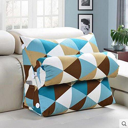 YOTA HOME Bedside Rückenlehne Bedside Kissen Office Lumbal Rücken Kissen Bett Nackenkissen Sofa Kissen Kissen (Farbe : A4, größe : 60)