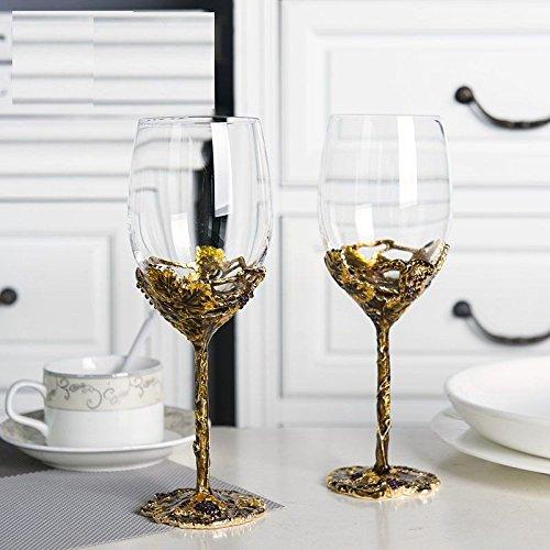 JARONG Vin Rouge Tasse Cadeau De Mariage Verre De Vin L'Émail Cristal