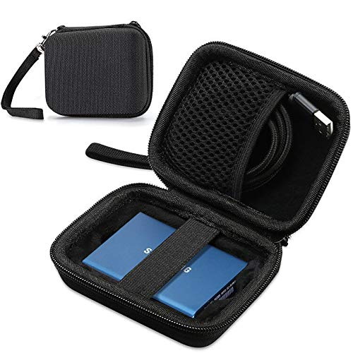 ProCase Carrying Case for Samsung T5 T3 SSD, Compact Hard Shockproof Carry Case for T5 / T3 / T1 Portable SSD 250GB 500GB 1TB 2TB USB 3.1 Type C Hard Drive