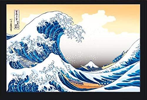 Carta Da Parati 3D Murale Carta Da Parati Per Bambini In Camera Papel De Parede 3D Personalizzato In Stile Giapponese Kanagawa Onda Carte Da Parati Pittura, 430Cmx300Cm