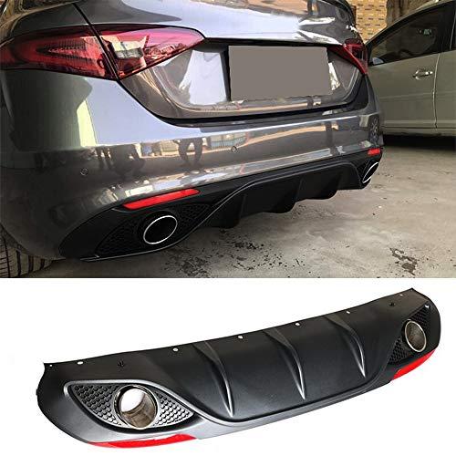 mächtig der welt JTAccord PP Auto Heckstoßstange Diffusor Spoiler mit Auspuff für Alfa Romeo Giulia Limousine…