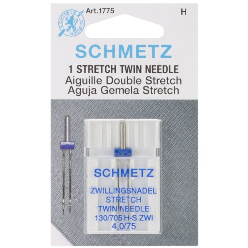 %22 OFF! Euro-Notions Twin Stretch Machine Needle, 4/75-Inch