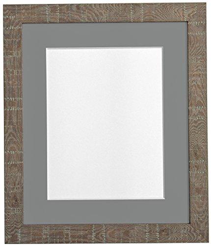 Frames BY POST 14 x 20,3 cm, medium, korrel diepe fotolijst met houder, donkergrijs voor foto's 10 x 10 cm, grootte, bruin