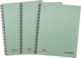 Summit Notitieboek, A4, metallic, spiraalbinding, gelinieerd, 200 pagina's, 3 stuks