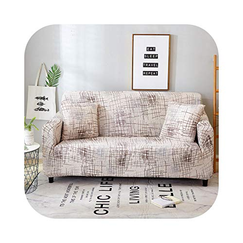 Onln 2021 1pc Spandex Modern Sofa Cover Elastic Floral Polyester 1/2/3/4 Seater Couch Sofa Slipcover for Living Room Furniture Protector-Color 31-Three-seat 190-230cm