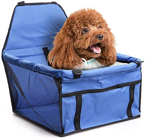 AYCPG Dog Car Seat Cover Waterproof,Pet Booster Car Seat,40x30x25cm Scrub Cloth Dog Car Seat for Perfect for Small and Medium Pets,Black,40x30x25cm lucar (Color : Blue, Size : 40x30x25cm)
