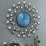 Reloj de pared moderno y minimalista de WEILAN, reloj de pared para salón, creativo, con personalidad, reloj de pared de 20 pulgadas o más conchas marinas (58 cm de profundidad en el mar azul)