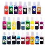 Gulang-keng Pigmento de resina epoxi – 26 colores de cristal epoxi, tinte de resina UV, para manualidades, colorantes, para secar colores y decoraciones líquidas para hacer accesorios