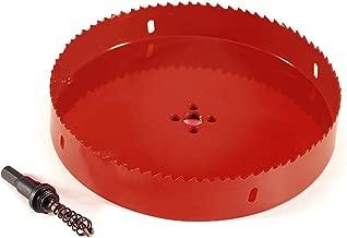 Yosoo Bi Metal M42 HSS Hole Saw Cutter Drill Bit For Aluminum Iron Pipe 110mm-200mm (200mm)
