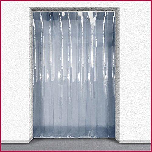 Super Polar PVC tira cortina Kit–Ideal para almacén frigorífico/refrigeración, transparente, 1m x 2.25m