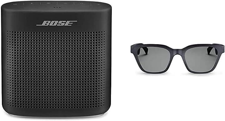 Diffusore bluetooth 4.2 nero + occhiali da sole con audio frames alto s/m bose soundlink color ii B0888Z3WND