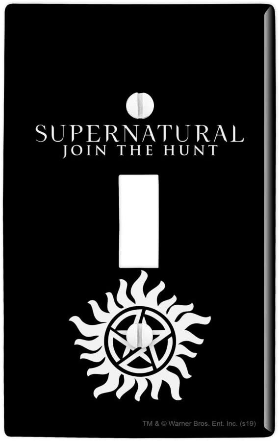 Supernatural Anti Possession Symbol Plastic Wall Decor Toggle Light Switch Plate Cover