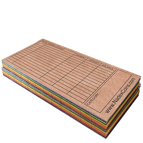 Budget Envelopes for The Cash Envelope Money Saving System, Tear and Water Proof Tyvek Paper, Multi-Color