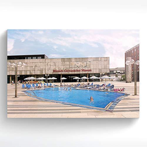 stadtecken® Poster KÖLN I Motief: Romeinse zwembad I Kunstdruk I Decooposter I muurschildering I Souvenir I Gift I Cadeau-idee - met varianten 90x60 cm