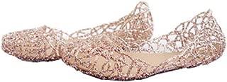 Suppersupplier Women's Bird Nest Layered Lines Jelly Flat Sandals