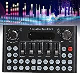 Bluetooth Voice Changer Sound Card with Multiple Sound Effects, Audio DJ Mixer for Live Streaming, Music Recording, Karaoke Singing, Online Game for iPhone Mobile Phone, Computers PC, Laptop, Tablet