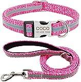 Chaleco de mascotas chaleco de perro arneses perro plomo de perro plomo reflectante personalizado perro collar de perro y correa conjunto de collares de etiqueta de identificación de perro personaliza