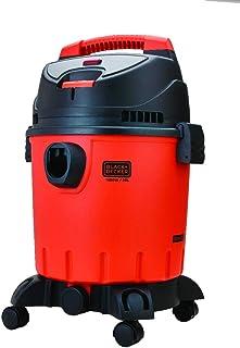 Black+Decker 1400W 20L Wet and Dry Tank Drum Vacuum Cleaner, Orange/Black - WDBD20-B5, 2 Years Warranty
