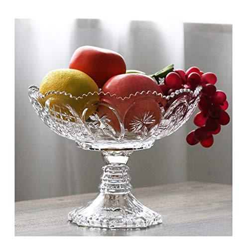 ZGP -Plat de Fruits Verre en Cristal Plat De Fruits Plat De Fruits Moderne Cuisine Décoration De Table Assiette De Fruits Assiette De Fruits Sec Assiette de Fruits multifonctionnelle