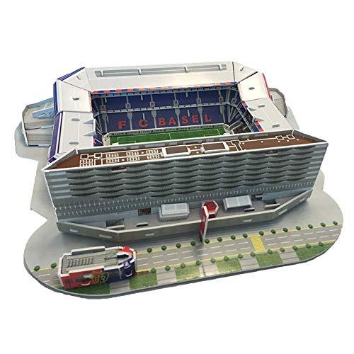YWAWJ Los aficionados más grandes Modelo de arquitectura del estadio deportivo en 3D Jigsaw Basilea Football Club está en casa St Jacobs estadio del parque de la Libertad Mundial de recuerdos diy jugu