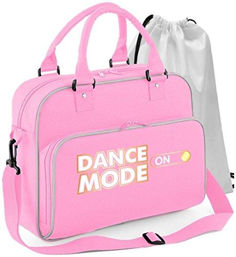 MusicaliTee Pole Fitness Dancing - Dance Mode On - Rosa PINK - Tanztasche & Schuh Tasche Dance Shoe Bags