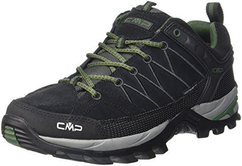 CMP Herren Rigel Low Shoes Wp Trekking- & Wanderhalbschuhe, Schwarz (Black-Loden 87bd), 43 EU