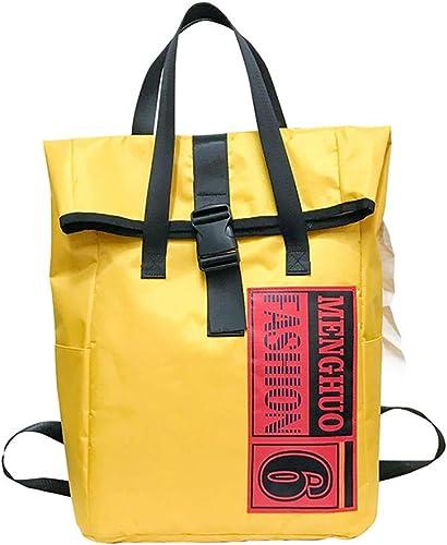 ZYLBS Moderne Loisir Mode Sac à Dos Personnalité Impression Sac Oxford étudiant Sac d'école De Plein air Randonnée Sac de Voyage Grande capacité Sac à Dos,jaune