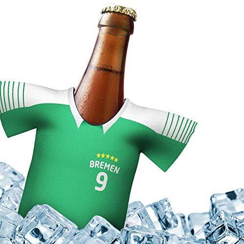 Fan-Trikot-kühler Home für Werder Bremen Fans | DRIBBEL-KÖNIG | 1x Trikot | Fußball Fanartikel Jersey Bierkühler by Ligakakao