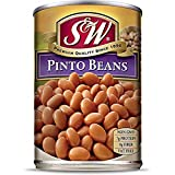 S & W • Canned Pinto Beans (12 Pack), Vegan, Non-GMO, Natural Gluten-Free Bean, Sourced and Packaged in the USA, 15 Ounce Can