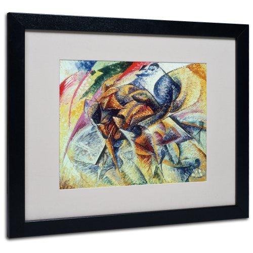 Trademark Fine Art Dynamism of a Cyclist 1913 Artwork by Umberto Boccioni, Black Frame, 16 by 20-Inch
