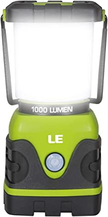 LE Portable LED Camping Lantern, 1000lm, Dimmable, 4...