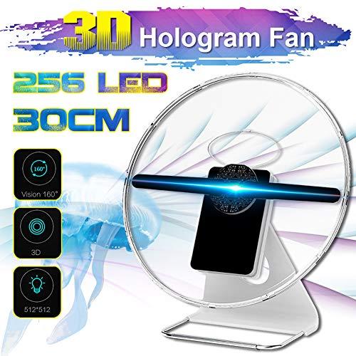 3D-Werbung Maschine, 30Cm Desktop-Holographic Werbung Maschine Mit Batterie, Removable Werbung Fan Für Shop, Shop, Feiertage Veranstaltungen Anzeigen