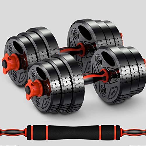 YUESFZ Hanteln Dumbbell Langhantel Für Herren Hantel Mit Einstellbarem Gewicht Damenausstattung 10 Kg / 12 Kg / 14 Kg / 20 Kg / 28 Kg (Color : Black+Red, Size : 14KG*2)