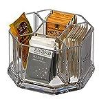 Scatola porta bustine the in plastica con 5 scomparti,Porta bustine da tè in acrilico, ca...