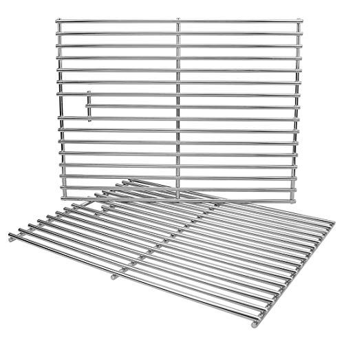 Utheer Grill Parts Cooking Grates 17 Inch for Home Depot Nexgrill 720-0830H, 720-0830D, 720-0783E, 720-0783C, Uniflame Gas Grils Replacement, Stainless Steel Cooking Grids, 2 Pack