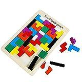 Kentop Tetris Rompecabezas Madera Tangram Jigsaw Puzzle Educativo Inteligencia Regalo para Niños
