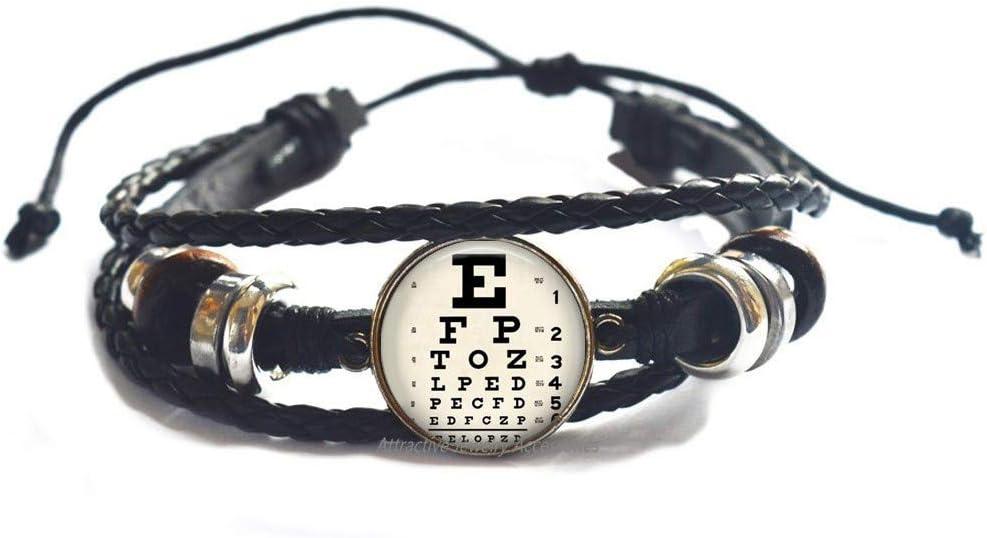 Max 53% OFF Wklo0avmg Fees free Eye Chart Gift Bracelet Jewelry
