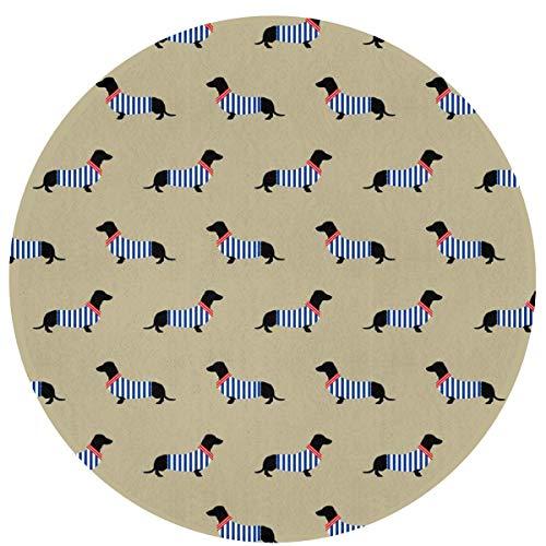 LINFENG Beste Spielmatte Teppich für Kinder Dekorationen & Tipi Zelt Dackel Hund Muster 23,6 x 15,7 Zoll Area Rug Runde Matte für BedLiving