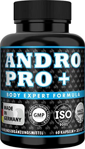 ANDRO PRO Pre Workout Kapseln, Beliebt bei Muskelaufbau + Bodybuilding + Sport + Fitness, Tribulus Terrestris hochdosiert, 2 Monats Vorrat, 60 Kapseln