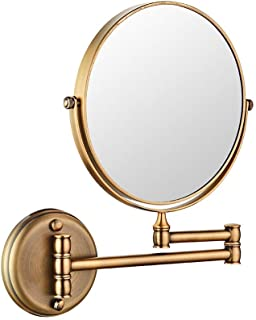 BMJ&C Shaving Mirror Double-Sided Round Bathroom Vanity Mirror Swivel, Extendable (Color : 05, Size : 6 inch/5×)