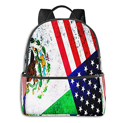 SGSKJ Mochila Tipo Casual Mochila Escolares Mochilas Escolar Estilo Impermeable para Viaje De Ordenador Portátil para Hombre Mujer México Estados Unidos