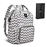 HEYI Diaper Bag Backpack Travel Large Spacious Tote Shoulder Bag Organizer (Chevron)