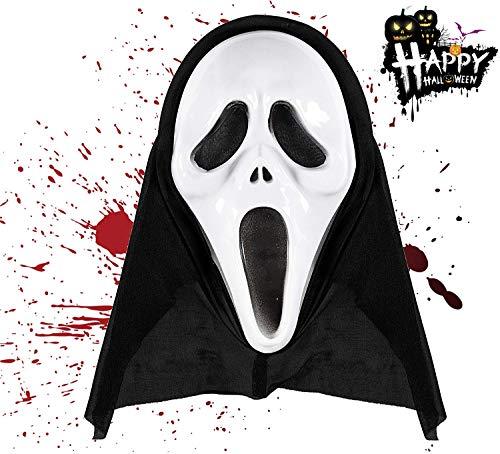 TK Gruppe Timo Klingler Scream Maske als Halloween Klassiker - für Damen und Herren - als Kostüm - Horror Ghostface (1x Maske)
